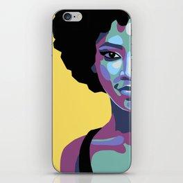 Flat bold portrait of a woman iPhone Skin