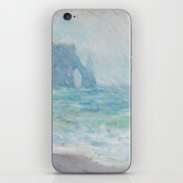 Monet Regnvær, Etretat, 1886 iPhone Skin