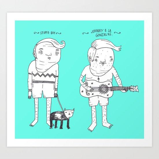 Jebba Characters 1 Art Print