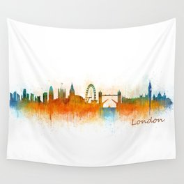 London City Skyline HQ v2 Wall Tapestry
