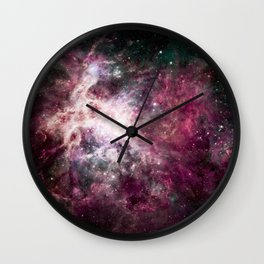 Nebula Formation in Outer Space Wall Clock