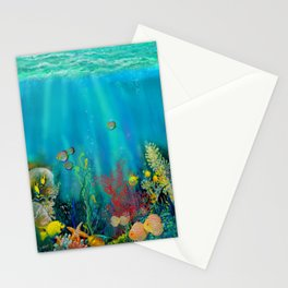 Undersea Art With Coral Stationery Cards