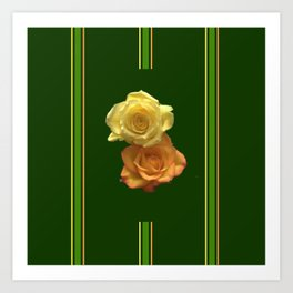 Season of the Flower - Rose Duet Art Print