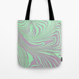 Violet mint green abstract watercolor marble Tote Bag