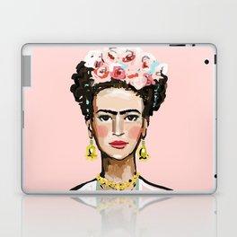 Frida on Soft Pink Laptop & iPad Skin