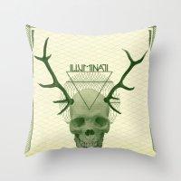 illuminati Throw Pillows featuring IlluminatI by Tommy Cash