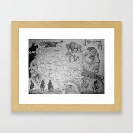 Native America Framed Art Print
