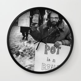 Ginsberg - Pot is a Reality Kick Wall Clock