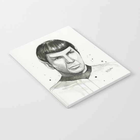 Spock Watercolor Portrait Notebook