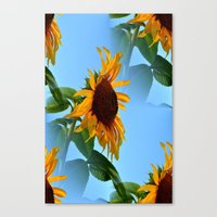 sunflowers Canvas Prints featuring Sunflowers by Sartoris ART