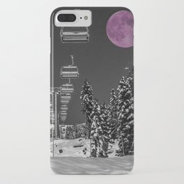 Chairlift to the Fuchsia Moon iPhone Case