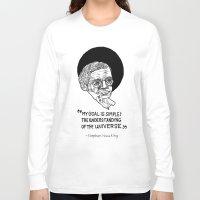 stephen king Long Sleeve T-shirts featuring stephen hawking by Aya Rosen