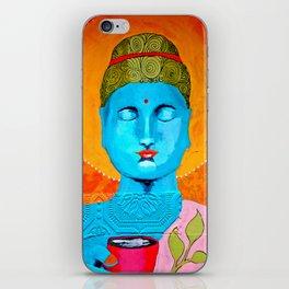 Even the Buddha needs a cuppa iPhone Skin