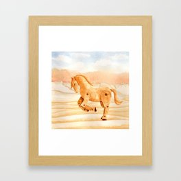 Wooden Horse Framed Art Print
