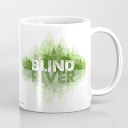 Blind River Trees (green) Coffee Mug