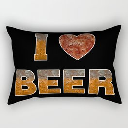 I Love Beer Rectangular Pillow