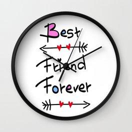 Best friend forever Wall Clock