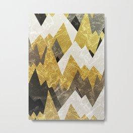 The rocky golden peaks Metal Print