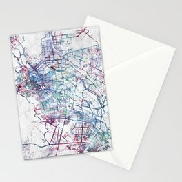 El Paso map Stationery Cards