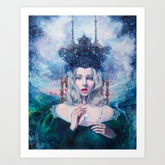 Self-Crowned Art Print