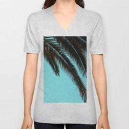 Palm Tree Blue Sky Unisex V-Neck