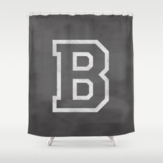Letter B Shower Curtain