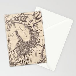 Vintage Map of Genoa Italy (1823) Stationery Cards