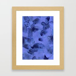 Solstice - Blue Framed Art Print