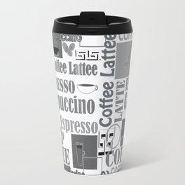 "Black and white pattern. ""Favourite coffee "" Travel Mug"