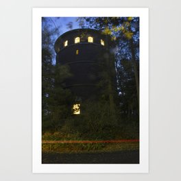 Water Tower in Volunteer Park Art Print