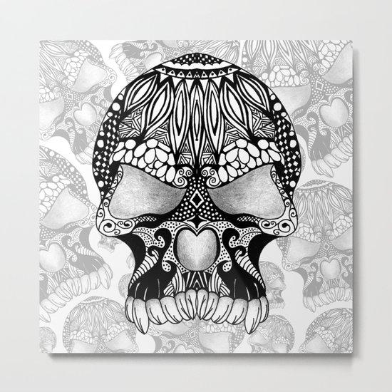 Sugar Skull.  Metal Print