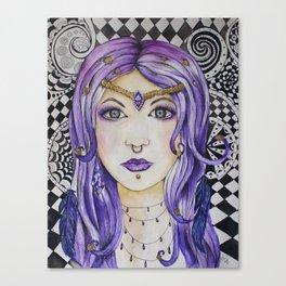 Fantasy gothic watercolor art Canvas Print