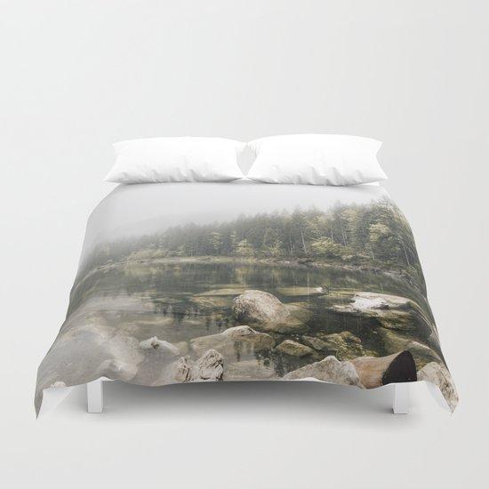 Pale lake - landscape photography Duvet Cover
