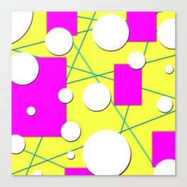 Geo Shape Play in Summertime Colors Canvas Print
