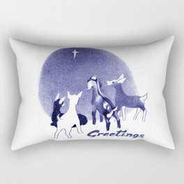Christmas in the Stable Rectangular Pillow