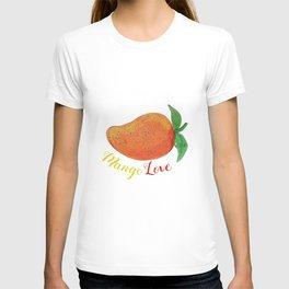 Mango Love Fruit Watercolor Mandala T-shirt