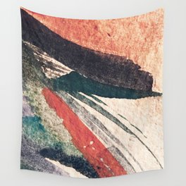 Thunder&Lightning {3}: Minimal watercolor abstract in pinks, blues, and greens Wall Tapestry