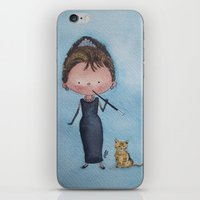 audrey iPhone & iPod Skins featuring Audrey by Juliana Motzko