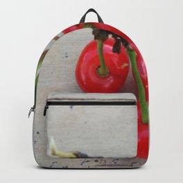 Cherries 3 On a Leaf Backpack