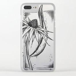 Echinacea Clear iPhone Case