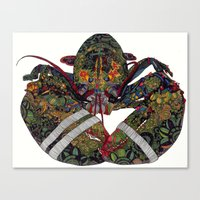 lobster Canvas Prints featuring Lobster by Aina Serratosa