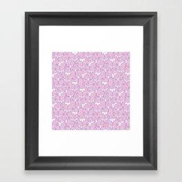 Lavender Cranes Framed Art Print