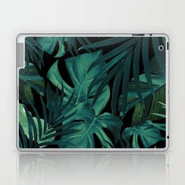 Tropical Jungle Night Leaves Pattern #1 #tropical #decor #art #society6 Laptop & iPad Skin