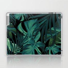 Tropical Jungle Night Leaves Pattern #1 #tropical #decor #art #society6 Laptop & iPad Skin