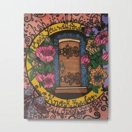 GOD'S DOOR Metal Print
