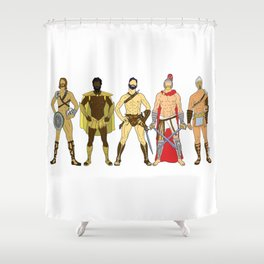 5 Gladiators and Warriors Shower Curtain
