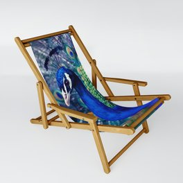 Blue Peacock Sling Chair