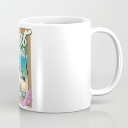 Eilat Beach Israel scooter travel poster Coffee Mug