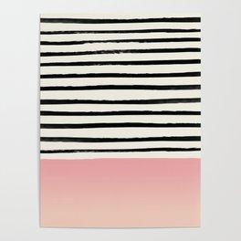 Blush x Stripes Poster