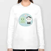 lovecraft Long Sleeve T-shirts featuring Lovecraft and Chtulhu by Cloudsfactory